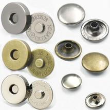 "20 Sets 18mm 3/4"" Magnetic snaps purse Double Rivet closures Round Clasp... - $8.55"