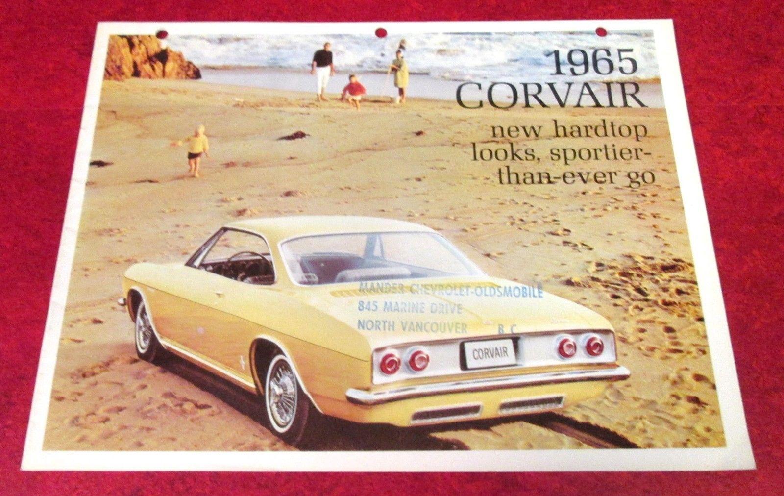 1965 CORVAIR CORSA MONZA Original Canadian Dealership Showroom Sales Brochure