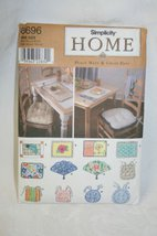 1998 Rare Oop & Uncut Simplicity Home 8696 Place Mats & Chair Pads Sewing Pat... - $9.40
