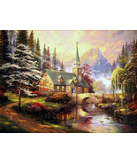 Thomas Kinkade Dogwood Chapel Cross Stitch Pattern***LOOK*** - $4.95