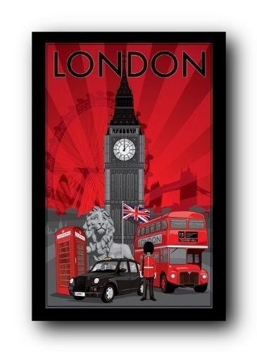 London big ben uk poster 24 x 36 wall art print home decor for Home accessories london