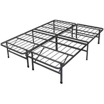 California King Steel Base Bed Frame Black Mattress Box Spring Bedroom F... - $144.53