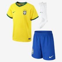 NIKE BRAZIL LITTLE BOYS HOME KIT FIFA WORLD CUP BRASIL 2014 BOYS. - $79.99