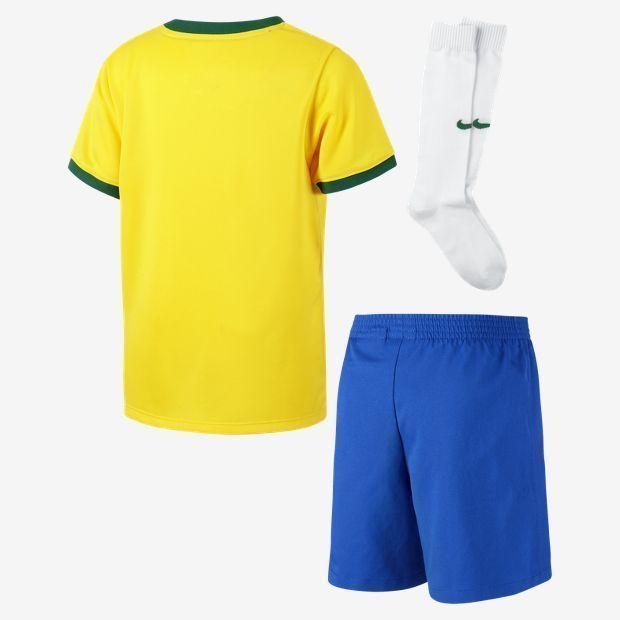NIKE BRAZIL LITTLE BOYS HOME KIT FIFA WORLD CUP BRASIL 2014 BOYS.