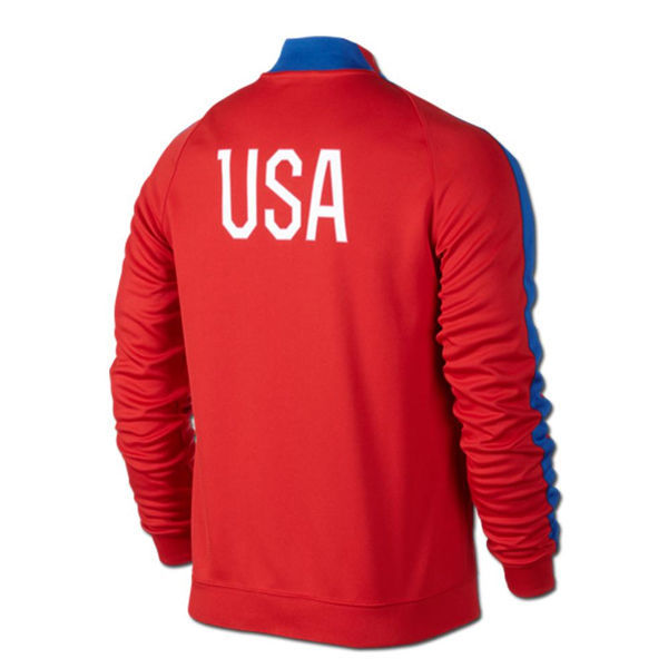 cd4da58bf NIKE USA SOCCER TEAM AUTHENTIC N98 TRACK JACKET FIFA WORLD CUP BRAZIL 2014  RED
