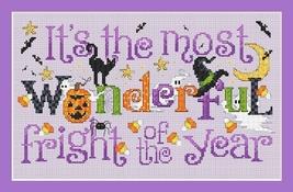 Wondeful Fright halloween cross stitch chart Sue Hillis Designs - $8.10
