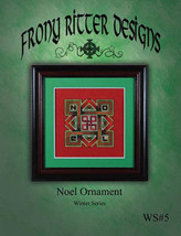 Noel Ornament cross stitch chart Frony Ritter Designs  - $3.60