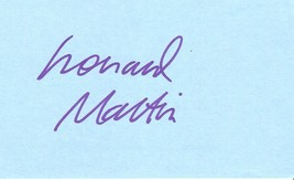 Leonard Maltin, Entertainment Tonight, film critic, author, autograph - $8.00