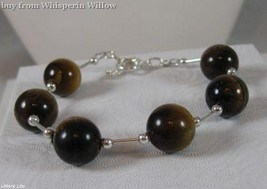 Tiger Eye Bead Sterling Silver Fashion Bracelet - $32.95