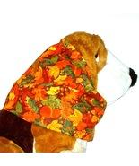Dog Snood - Autumn Orange Yellow Green Brown Leaves Acorns Cotton - Size XL - $13.50