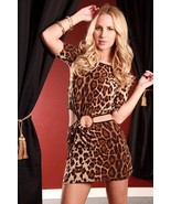 sexy leopard o-ring cutout mini dress size extr... - $0.00
