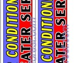 2 (two) AIR CONDITIONING HEATER SERVICE 11.5' SWOOPER #1 FEATHER FLAGS BANNERS