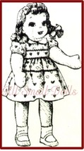 """Vintage Pattern for 32"""" Cloth Doll~Wears Childs Clothing - $5.99"""