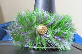 Clarinet Decor/Bell Bottom Boa/Purple/Green/Goldtone Buttons/Mardi Gras!  - $5.99