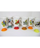 Decorative Collectible Bird  Ceramic Tall Mugs - $15.00