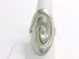 MODERNIST Vintage Open Work Swirl STERLING Silver RING - Size 8 3/4 - 1 ... - $80.00