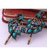 peacock hairpin women girl fashion bobby pin crystal hairpin bobby pin jl18 - $19.99