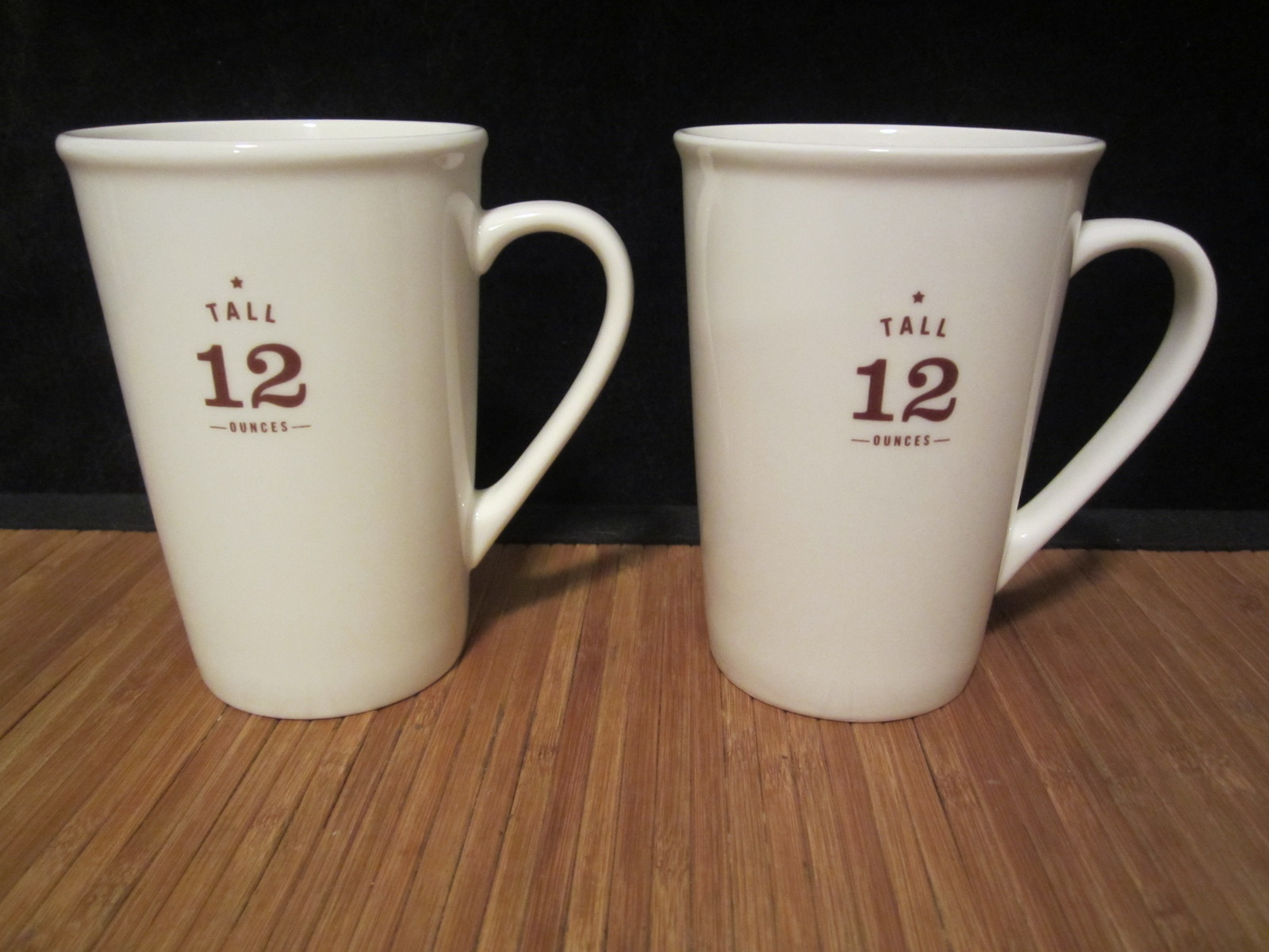 2 STARBUCKS Coffee Company White Tall 12 oz Coffee Mug Cup ...