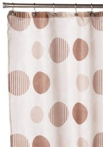 Carnation Home Fashions Park Avenue Fabric Shower Curtain, Brown [Misc.] - $11.14