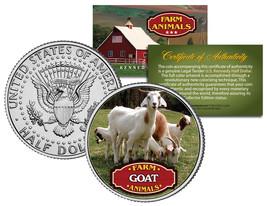 GOAT * Collectible Farm Animals * JFK Kennedy Half Dollar U.S. Colorized... - $8.86