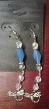 Artisan Crafted Handmade Dragonfly Dangle Earrings - $4.89