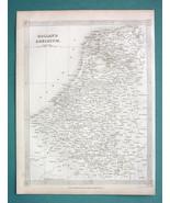 HOLLAND & Belgium - 1841 Original Map - $6.42