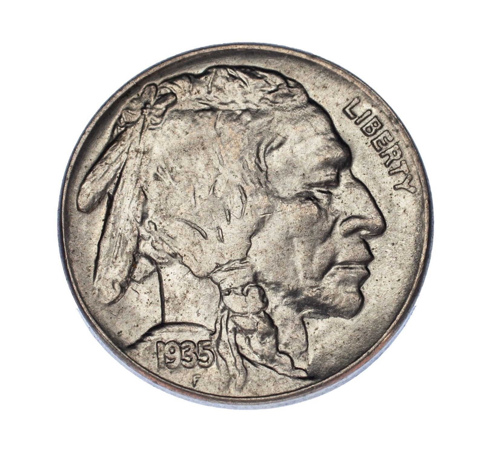 Primary image for 1935 5C Buffalo Nickel Choice BU Condition, Excellent Eye Appeal, Mint Luster!