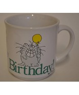 Recycled Paper Products ~ Cool Cat Happy Birthday Coffee Cup Mug Sandra ... - $19.95