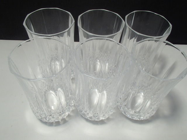 Primary image for 6 CRISTAL D'ARQUES LONGCHAMP LRG FLAT TUMBLERS~~