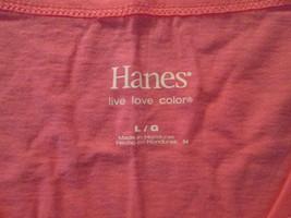 Womens Shirt Large Hanes Bright Pink TF384/ALS - $9.93