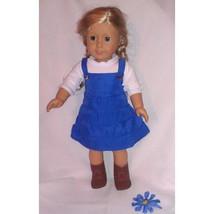 American Girl  2 piece blue jumper VIBRANT -Sty... - $16.78