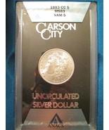 1883 CC Silver Morgan Dollar $1 Slab ANACS MS 63 Vam 5 GSA Hoard Mint Er... - ₨24,472.92 INR