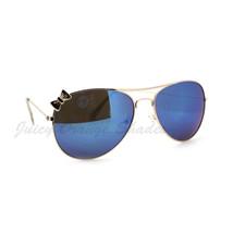 Ribbon Aviator Sunglasses Women's Classic Thin Metal Aviators - $7.95