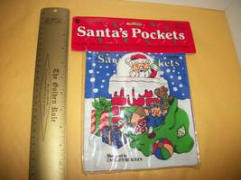 Toy Holiday Baby Cloth Book Doll Santa's Pockets Christmas Interactive Activity - $3.79