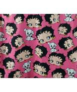 2008 Betty Boop America's Bombshell Ladies Scrubs Uniform Pink Double Po... - $24.26