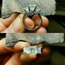 3.00 Ct Princess Cut Diamond Three-Stone Engagement Ring 14k White Gold ... - $132.99