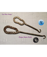 Antique Shoe Button Hooks Two Steel Advertising - £13.79 GBP
