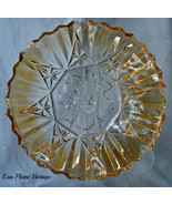 Federal Glass Co Iridescent Amber Fluted Inta... - £9.19 GBP