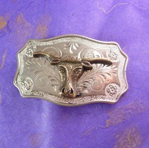 Men's Buckle Vintage Texas Long Horn Steer Country Western Unisex Belt A... - $55.00