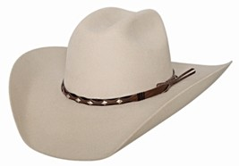 Bullhide True West 8X Fur Blend Cowboy Maverick Crown Shapeable Buckskin... - $88.00