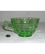 Block Optic Green Cup Pointed Handle Style Hocking - $5.95