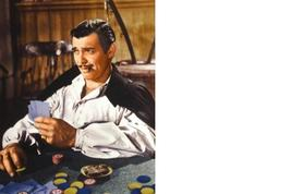 Gone With The Wind Cards Clark Gable Vintage 11X14 Color Movie Memorabilia Photo - $12.95