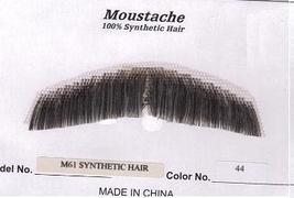 GENT'S DARK GREY SYNTHETIC HAIR MUSTACHE - $10.00