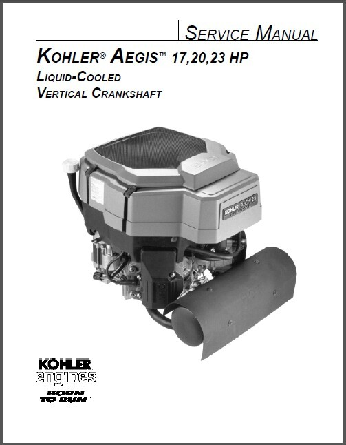 Kohler Aegis 17-23 Hp Vertical Crankshaft Engine Service Repair Manual CD  LV560