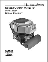 Kohler Aegis 17-23 Hp Vertical Crankshaft Engine Service Repair Manual CD  LV560 - $12.00