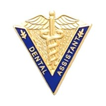 Dental Assistant Lapel Pin Medical Graduation Caduceus Blue V Shape 5017... - $13.69
