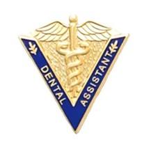Dental Assistant Lapel Pin Medical Graduation Caduceus Blue V Shape 5017 New image 1