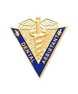 Dental Assistant Lapel Pin Medical Graduation Caduceus Blue V Shape 5017 New - $13.69
