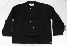 Dickies CW070305B Restaurant Button Front Black Uniform Chef Coat Jacket... - $39.17