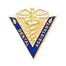 Dental Assistant Lapel Pin Medical Graduation Caduceus Blue V Shape 5017 New image 2